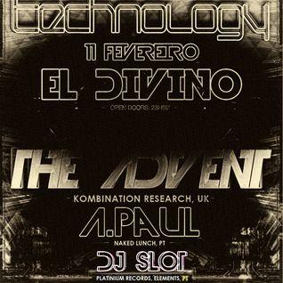 DJ SLOT @ TECHNOLOGY [El Divino Club - Coimbra] - February 12, 2012