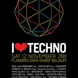 Crookers - Live @ Love Techno, Belgium (12-11-2011)