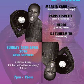 Girlz B Like - April Showers: Marcia Carr | DJ Tunesmith | Paris Cesvette Pt. 1 at The Book Club