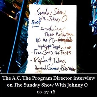 AC The PD interview on The Sunday Show with Johnny O - 07-17-16