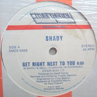 Shady - Dubbing Next To You (N.Y. Style) 1985