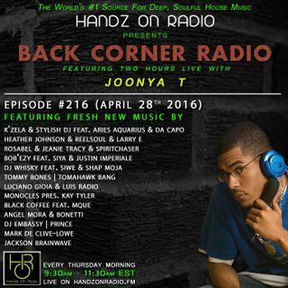 BACK CORNER RADIO: Episode #216 (April 28th 2016)