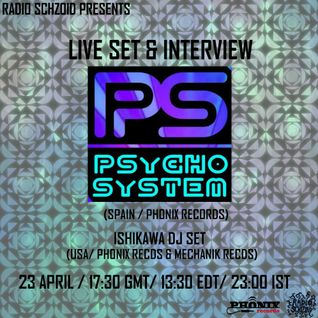 Psycho System - Live Set April 2015 on Radio Schizoid