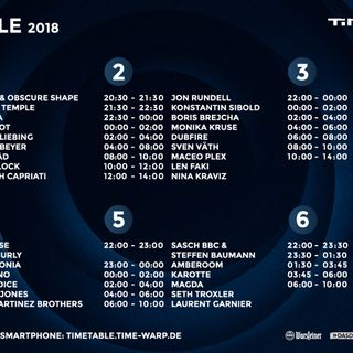 Joseph Capriati - live at Time Warp 2018 (Mannheim, Germany) - 07-Apr-2018