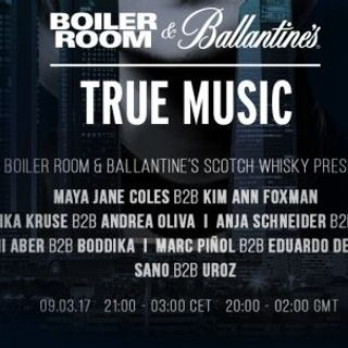 Monika Kruse b2b Andrea Oliva - Live @ Boiler Room & Ballantine's True Music Madrid - 09.03.2017