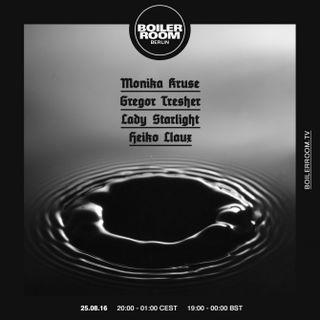 Gregor Tresher - Live @ Boiler Room Tv (Berlin, DE) - 25.08.2016