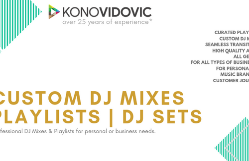 Custom DJ Mixes - Tailored for your business or personal use.