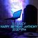 Happy Birthday Anthony 2020*11*14 image