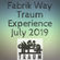 Fabrik Way Traum Experience July 2019 image