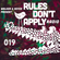 Rules Don't Apply Radio 019 (feat. VNSSA) image