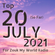 The Top 20 Countdown for 2021 - July Edition image
