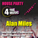 4 The Music House Party - Live - Alan Miles debut live stream - Club House image