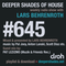 Deeper Shades Of House #645 w/ exclusive guest mix by PAT LEZIZMO