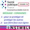 ▄ VIVRE ENSEMBLE ▅ mars 2020 COVID19- • [ MESSAGE CONSIGNES SANTE PUBLIQUE  ] •