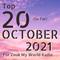 The Top 20 Countdown for 2021 - October Edition