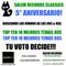 Salem Records Classics 80s & 90s Factory Radio FM 94.5 PROGRAMA 5 AÑOS! Top 80s & 90s Especial Chart