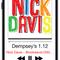 DJ Nick Davis at Dempsey's Burger Pub - 1.12.18