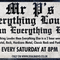 Mr P,s Everything Louder Than Everything Else Show 57 Broadcast Date 10/04/2021