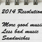 2014 Resolutions (more sandwiches)
