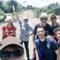 Peregrinos camino al Santuario Nacional