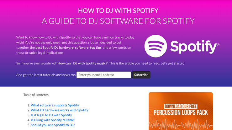 How to DJ with Spotify? A popular article worth a read.