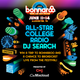2015 Bonnaroo Lineup featuring All-Star College DJ: [Black Lightning / KZUU] logo
