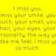 I miss her thou