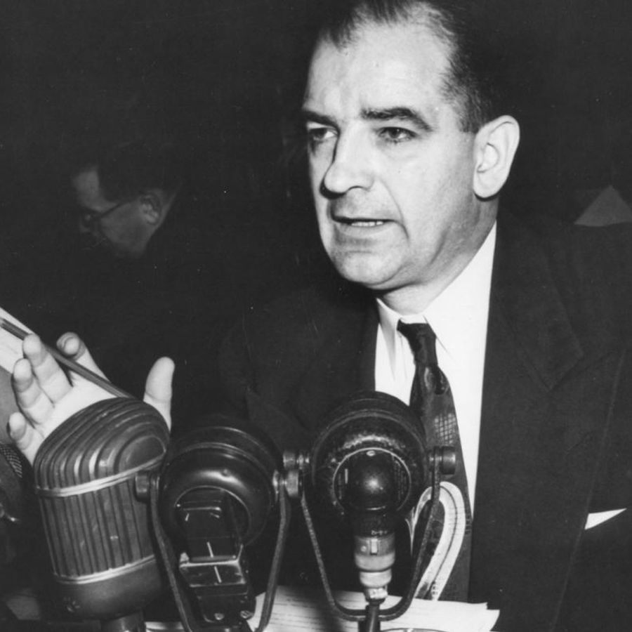 an analysis of the topic of the wisconsin senator joseph mccarthy during the 1950s