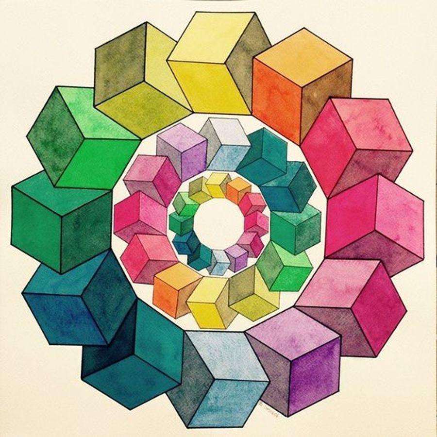10 geometric art explorations for math learning - 736×736