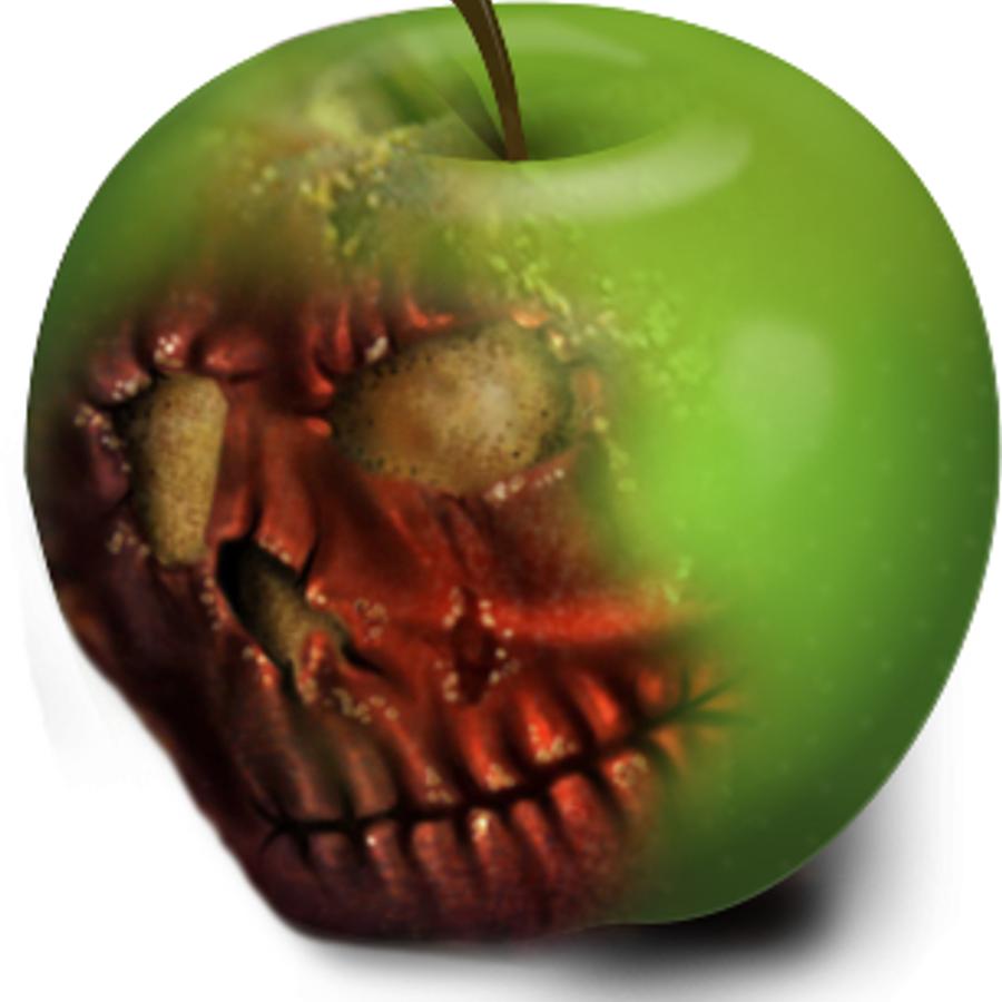 Картинка яблоко гнилое