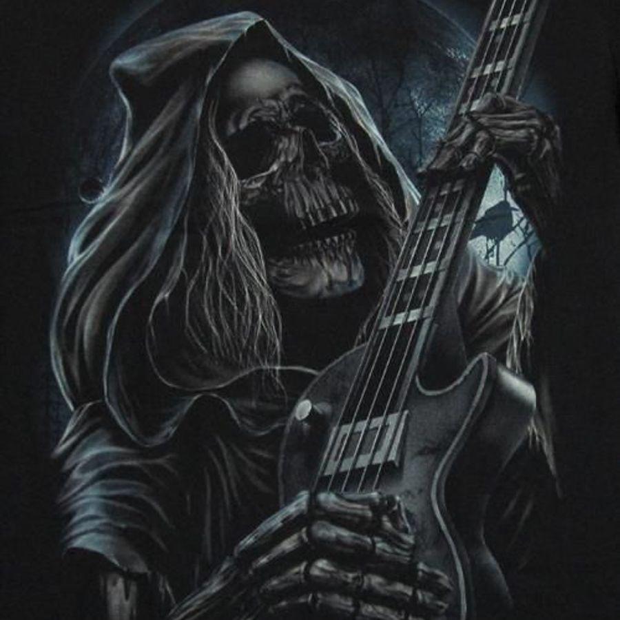 картинки с скелетами на гитаре