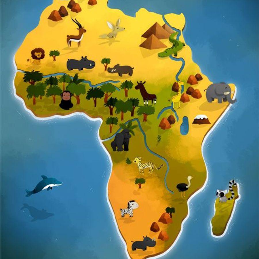 картинки карт африки швы наложены применением