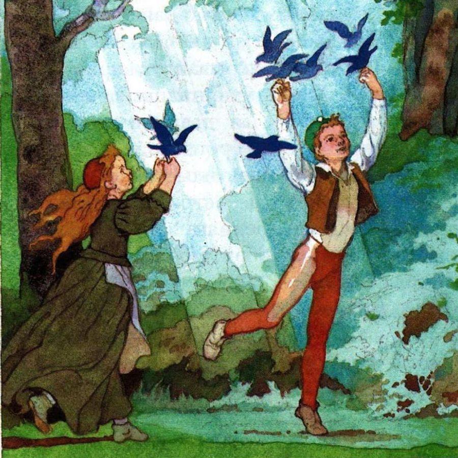 картинки к сказке синяя птица метерлинк лагерь, где